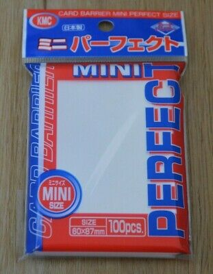 100 KMC MINI CLEAR PERFECT FIT Small Size Card Barrier Sleeves NEW 1 Pack yugioh