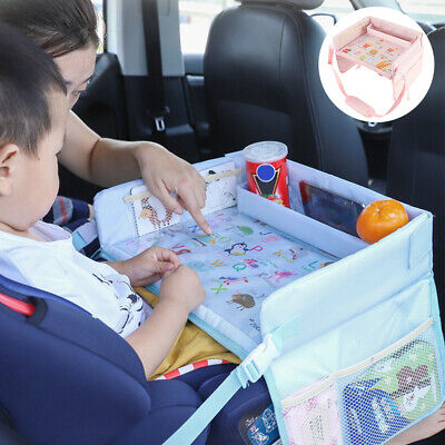 Baby Portable Safety Kids Car Seat Lap Travel Tray Activity Drawing Board Table