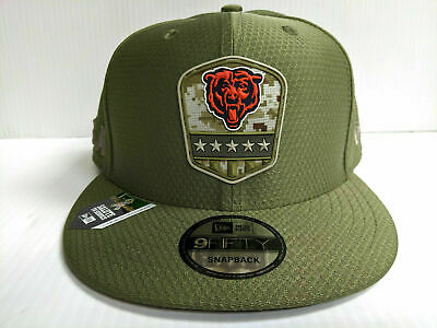 Chicago Bears Cap New Era 9Fifty Snapback 2019 Salute to Service Hat NFL
