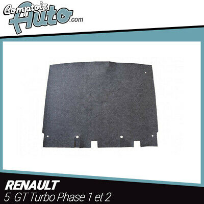 Carpet mat for trunk Renault 5 GT Turbo (phase 1 and 2) - Anthracite