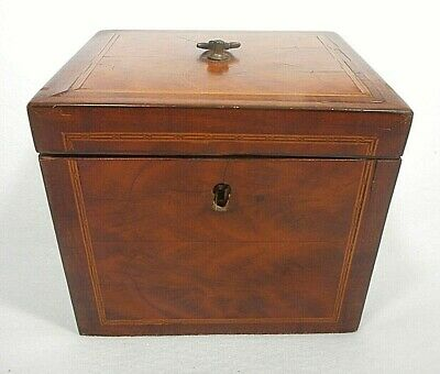 Antique 18th Century Wood Mahogany Tea Caddy George III box