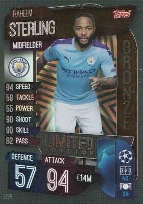 Match Attax Champions League 2020 Limited Edition Sterling Bronze Mint