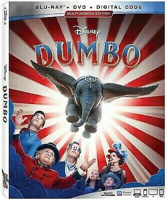 Dumbo (Blu ray + DVD + DIGITAL CODE) BRAND NEW + FREE SHIPPING