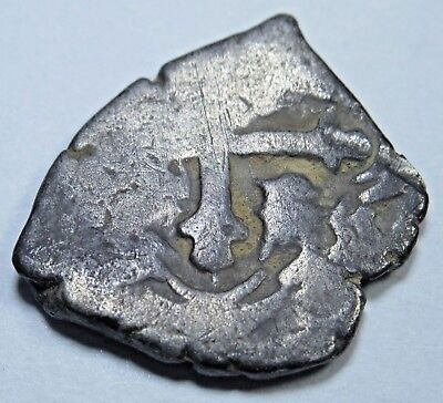 1600's Spanish Silver 1/2 Reales Real Colonial Cob Pirate Antique Treasure Coin