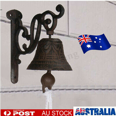 Cast Iron Antique Door Bell Bracket Wall Mounted Doorbell Garden Home