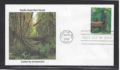 Pacific Coast Rain Forest Fdc 2000 Seattle, Washington Only One Made