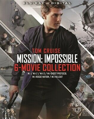 MISSION IMPOSSIBLE 6 MOVIE COLLECTION New Sealed Blu-ray 1 2 3 4 5 6