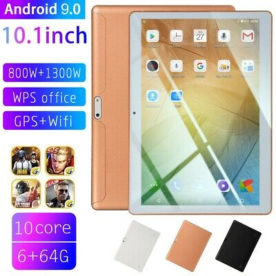 "10.1"" inch Tablet PC HD Android 9.0 6G+64G bluetooth WIFI/3G Dual Camera Phablet"