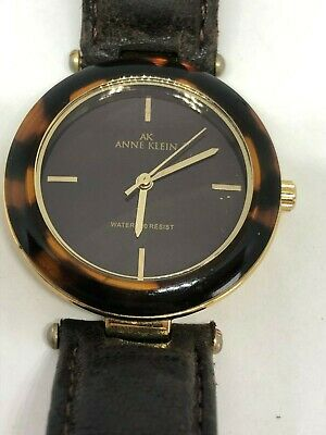 Working Ladies Gold and Faux Tortoise Shell Anne Klein Watch AN