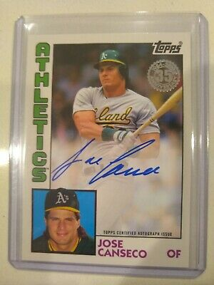 2019 Topps Update Jose Canseco 1984 Design Auto Autograph Oakland Athletics