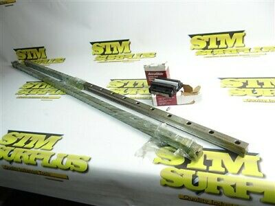 "New! Pair Of 49"" Thomson Accuglide Linear Ball Bearing Rails + 2 New Carriages"