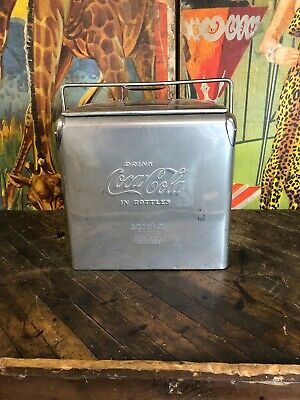 Vintage Coca Cola Acton Stainless Steel Cooler Coke 7Up Pepsi Dr Pepper Oc Sign