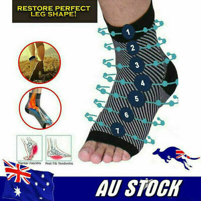 Dr Socks Soothers Anti-Fatigue Compression Foot Sleeve Support Brace Sock AU