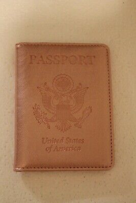 Slim Travel Passport Wallet Holder ID Card Case Cover Light Pink Open Package