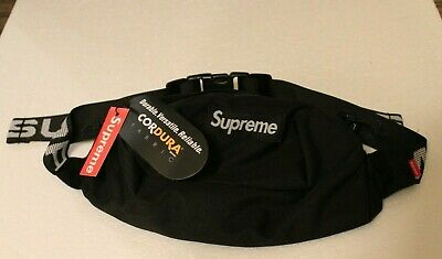 Black Waist Bag Fanny Pack Small Backpack Money Pouch Travel