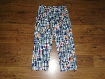 NICE Jos A Bank Plaid Patchwork Madras Pleated Golf Pants ACTUAL 35X29 WOW!