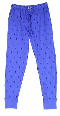Lauren By Ralph Lauren Mens Lounge Pant Blue Size Large L All Over Pony $44 #087