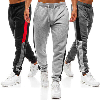 Mens Gym Slim Fit Tracksuit Bottoms Sports Jogging Joggers Sweat Pants Trou TPI