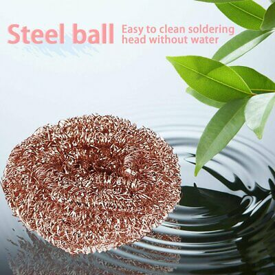Reuseable Soldering Solder Iron Tip Cleaner Steel Cleaning Wire Sponge Ball GN