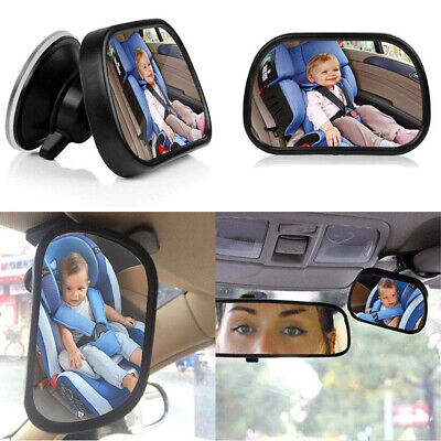 Baby Car Mirror For Back Seat Sucker Clip Windshield Rear View Mirrors UK Stock