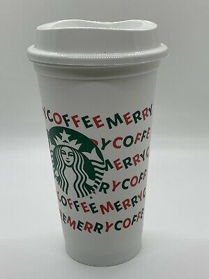 New Starbucks Holiday Christmas 2019 Red Reusable Cup w/ Lid Grande