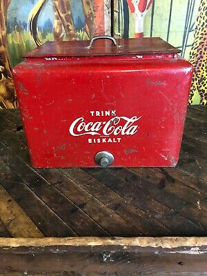 Vintage Coca Cola German Countertop Cooler Coke 7Up Pepsi Dr Pepper Orange Crush