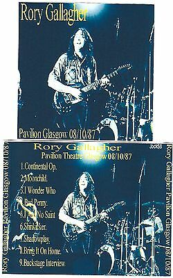 RORY GALLAGHER Pavilion Glasgow CD Recorded Live 04-10-87 SOUNDBOARD