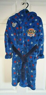 Boys Nickelodeon Paw Patrol Chase Dressing Gown / Robe  AGE 3 - 4 YEARS BNWT. .