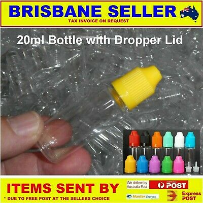 Mini Plastic Bottle Containers 20Ml 10Ml & 1 To 1000 Qty New Ex Brisbane