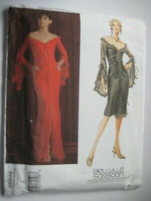Vogue 2848 Bellville Sassoon Lace Front Evening Dress New Sewing Pattern12-14-16