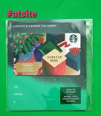 "STARBUCKS CARD 2019 Christmas ""Scratch & Unwrap The Merry"" NEW MINT"