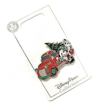 Disney Parks Mickey Minnie Yuletide Tree Farm Truck 2019 Christmas Pin NEW