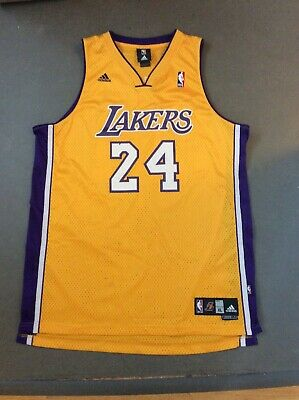 Los Angeles Lakers Kobe Bryant Adidas Jersey Men's XL Yellow/Purple