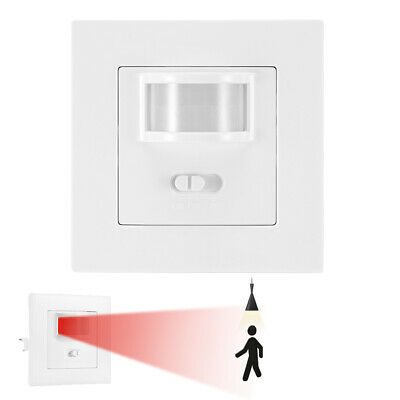 Automatic Infrared PIR Motion Sensor Switch Wall Mounted LED Light Switch New