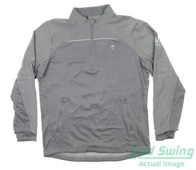 New W/ Logo Mens Adidas Go-To 1/4 Zip Golf Pullover X-Large XL Gray MSRP $99