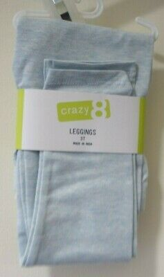 New W/Tags Crazy 8 Prep Cool Light Blue Heather Leggings Size 5/5T