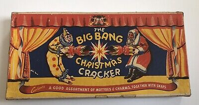 Vintage Boxed THE BIG BANG Miniature Christmas Tree Crackers.