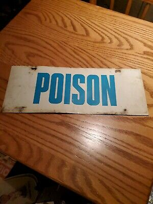 1970s Poison aluminum sign industrial agriculture farming