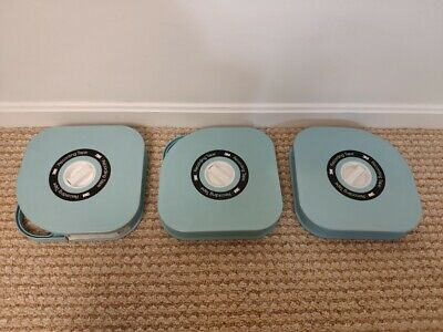 "3 PACK Vintage Scotch 3M 479 Video Tape 1"" Reel To Reel Copy Unknown Content"