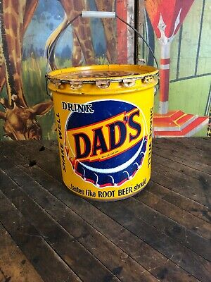 Vintage Dads Root Beer 5 Gallon Syrup Can Coca Cola 7Up Pepsi Dr Pepper Oc Sign