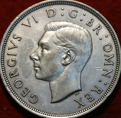 1937 Great Britain 1 Crown Silver Foreign Coin