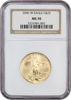 2006-W Gold Eagle $25 NGC MS70 - American Gold Eagle AGE