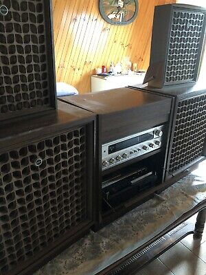 Sanyo Vintage Record Player, Tape Deck Stereo System