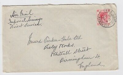 1938 Hong Kong Air Mail Imperial Airways Direct - KGVI 15c Cover to England