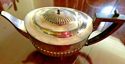 Vintage EPNS Tea Pot Silver Plated Rare Made In England De Montfort Plate