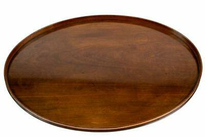 🎁 1800 Large Mahogany Serving Tray Oval Georgian Antique English Fine Quality