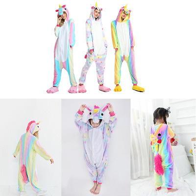 Adults Unicorn Unisex  Sleepwear Kigurumi Cosplay Pajamas Animal Costume