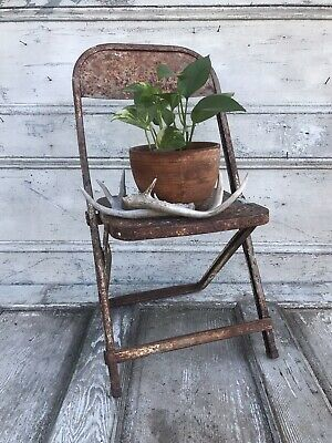 Magnificent Vintage Wood Folding Child Seat Wooden Plant Stool Camp Squirreltailoven Fun Painted Chair Ideas Images Squirreltailovenorg