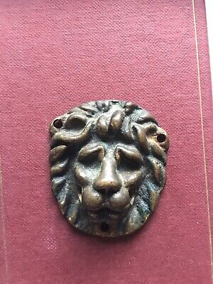 Antique Solid Bronze Lion Head Door/handle Knocker