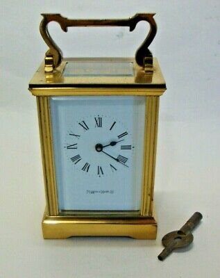 Mid 20th century brass cased carriage clock marked MAPPIN & WEBB Ltd